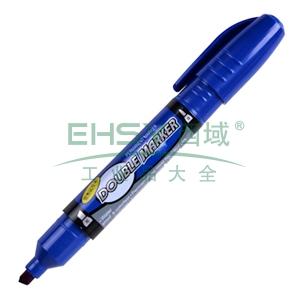 晨光 M&G 大双头记号笔 MG-2110 粗头5.0mm,细头2.0mm (蓝色) 12支/盒