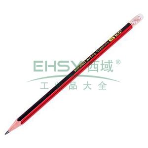 晨光 M&G HB铅笔 AWP30802 (红黑色抽条笔杆)(支)