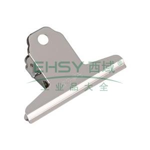 晨光 M&G 山形票夾,ABS92637 76mm (銀色)4只/袋 單位:袋