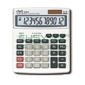 得力桌上型计算器,灰色  1506