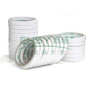 得力棉纸双面胶带,18mm*10y 30402 16卷/袋