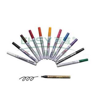 雪人中粗记号笔 油性记号笔,线幅1-2mm 黄色 单支