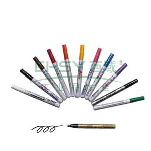 雪人中粗记号笔 油性记号笔,线幅1-2mm 金色 单支