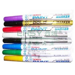 雪人中粗记号笔 油性记号笔,线幅1-2mm 银色 单支