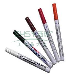 雪人中粗记号笔 油性记号笔,线幅1-2mm 棕色 单支