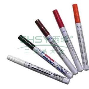 雪人中粗记号笔 油性记号笔,线幅1-2mm 枣深红 单支