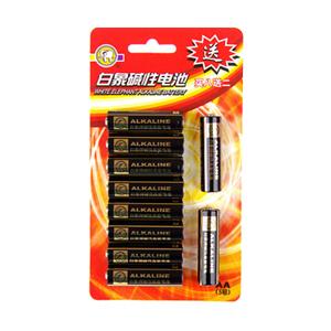 白象 5905-8DA 碱锰电池 5号、8粒/卡 单位:卡