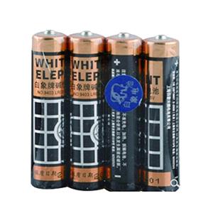 白象 9403TB7号碱性电池 4粒一版 单位:版