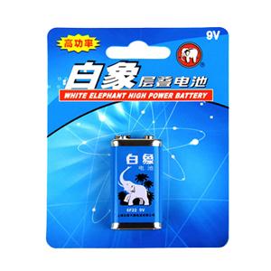 白象 碳性电池 9V、1粒,G263-D 单位:粒