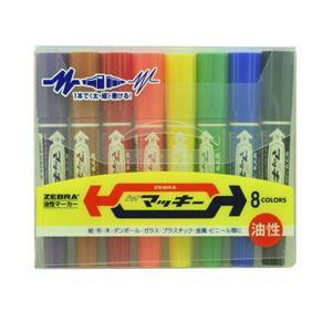 斑馬ZEBRA 大麥奇雙頭記號筆8色套裝,MO-150-MC 粗頭6.0mm 細頭1.5-2.0mm 8色/套 1套/盒 單位:套