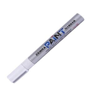 斑马 ZEBRA PAINT油漆笔 MOP-200M 2.5mm (银色) 10支/盒