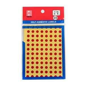惠达 HD-35 自粘性标签(直径6mm,红色,96个/张,6张/本)