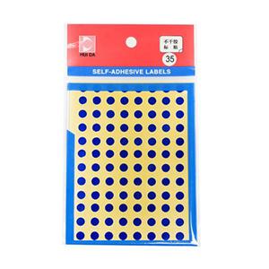 惠达 HD-35 自粘性标签(直径6mm,蓝色,96个/张,6张/本)