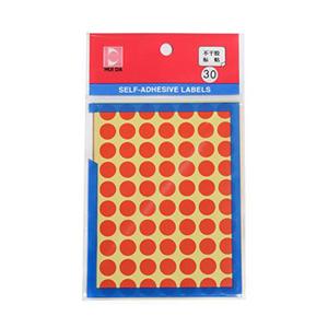 惠达 圆形自粘性标签HD-30(直径10mm,红)