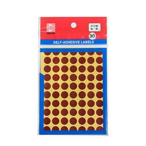 惠达 圆形自粘性标签HD-30(直径10mm,棕色)