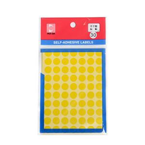 惠达 HD-30 圆形自动标签 12张/包 直径10mm 黄色