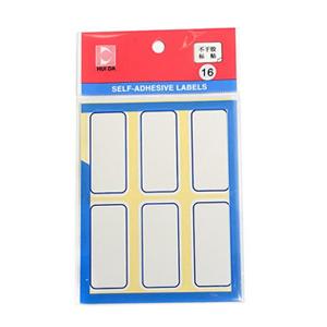 惠达 粘性标签(蓝框) ,25*53mm 白色 HD-16 单位:包