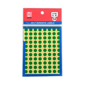 惠达 HD-30圆形自动标签10mm(绿)