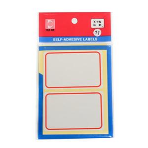 惠达 自粘性标签,HD-11(50*75mm,红框) 单位:包
