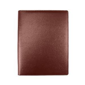 力路 4001 高档皮质 活页记事本 A4 带名片卡位 100页 棕色