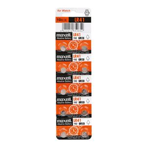 麦克赛尔 碱性纽扣电池,10粒/卡 LR41 192单位:卡