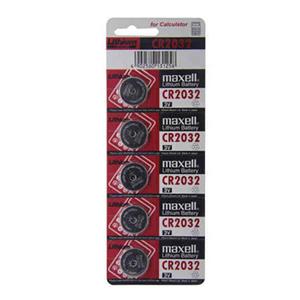 麦克赛尔 CR2032 纽扣电池 5粒/卡