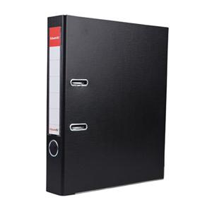 易达 27207P 半包胶档案夹 A4 2寸背宽 40mm孔距 黑色