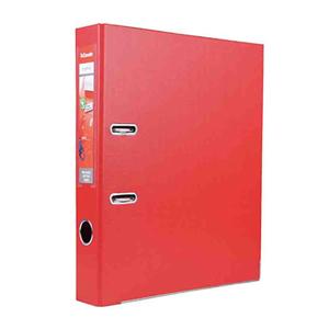 易达 20143 全包胶文件夹 A4 2寸背宽 45mm 红色 单个