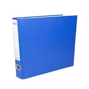 益而高 A4 1.5寸半包胶长押夹9832 蓝色 单个