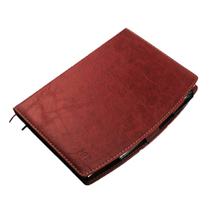 毅力达 MA-2308 A5弧边带仿皮笔记本 红色