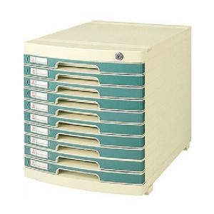钊盛 ZS-2610 多用十层带锁文件柜(绿) 单个