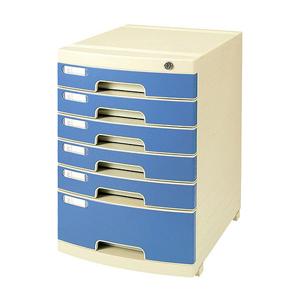 钊盛 多用六层带锁文件柜ZS-2651(灰) 单个