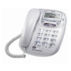 步步高 電話機, 白色,HCD007(6033)/(33)P/TSDL(LCD)