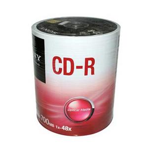索尼 光盘,700MB/48X CD-R光盘 (100片环保装)