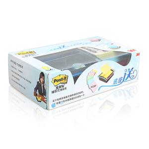 3M DS330-8P 8+1 抽取系列报事贴套装 水晶底座 3*3寸 单盒