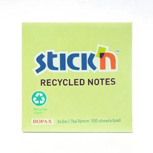 N次贴 36508 环保再生便条纸  76mm*76mm 绿色