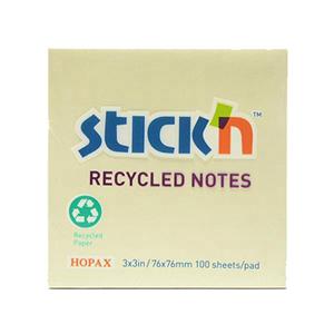 N次贴 36505 环保再生便条纸  76mm*76mm 黄色