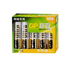 超霸 电池,GP24AU-2IB20,7号-碱性-20粒/盒 单位:盒