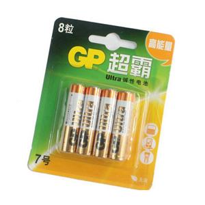 超霸 碱性电池,24AU-2IL8,7号 8节卡装 单位:卡