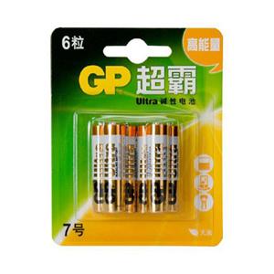 超霸 24AU-2IL6 碱性电池 7号 6节卡装