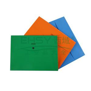 齐心 A7013 原味易查找分类风琴包 A4 4格 3个/套 颜色随机