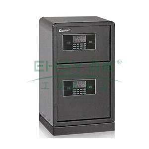 齐心 钢七连电子密码双层保管箱, 高78CM 灰 BGX-M/D-78SI