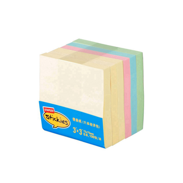 """史泰博 1548 多彩便条纸经济包(6本/包) 3""""×3"""",100张/本"""