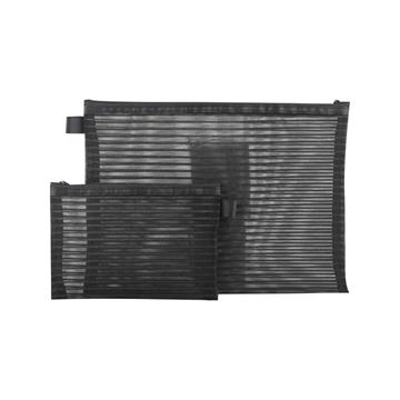 史泰博尼龍黑色筆袋,(1套包含1個大號和1個小號)黑色 單套