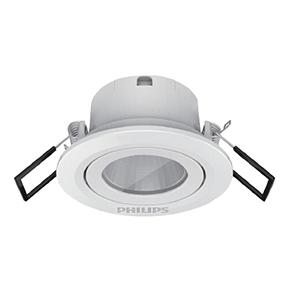 飞利浦 3W 明皓射灯II代嵌入式,开孔Ø58,RS022B LED2,4000K WB 60°SI 太空灰
