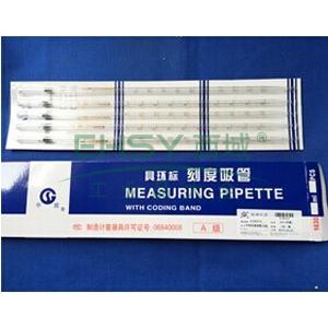 刻度移液管,0.1ml,A级,5支/盒