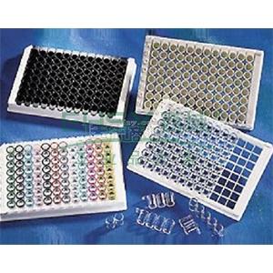 96孔酶标板,透明,平底,高结合,PS材质,带盖,未灭菌,散装,25个/包