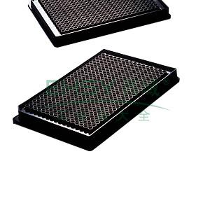 384孔板,低容量,平底,黑色,NBS表面,带盖,未灭菌,散装,10个/包,下单按照5的整数倍