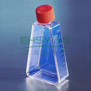 培养瓶,25cm²,直角角度颈,透气盖,PS材质,灭菌,散装,10个/包