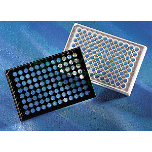 96孔板,黑色,透明平底,带盖,独立包装,1个/包